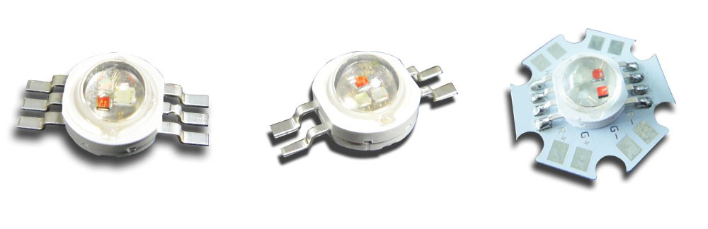 3W RGB full color led diodes with 6 leg