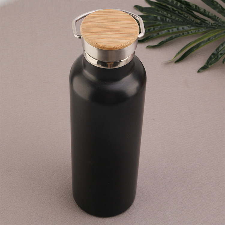 Mlife doulbe wall 18/8 stainless steel bottle with bamboo lid for outside sport