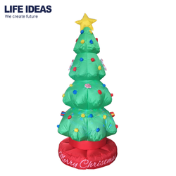 2018 hot sale new design outdoor revolving inflatable xmas tree, christmas tree airblown inflatable yard decoration