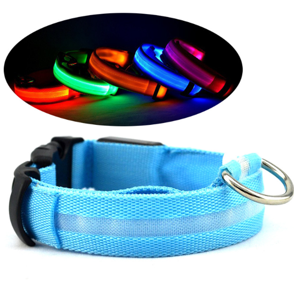 2017 New Products Pet Products Supplier Led Light Up Eco-friendl Pet Collar Adjustable For Dogs