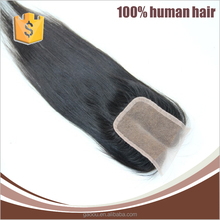 7A Free Shipping Brazilian Virgin 100% Human Hair Closures Straight hair Lace Closure of 4*4 Middle 3 Way Free Part