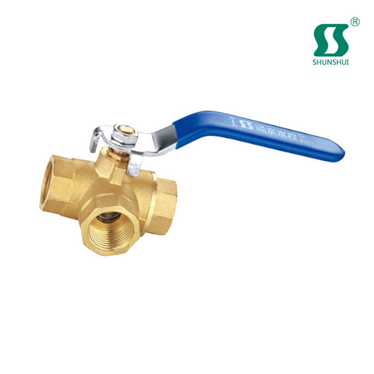 "water balancing valve 1/4"" tube ball brass foot with strainer"