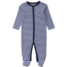 Factory price toddler jumpsuit newborn plain knitted footed cotton baby romper