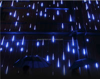 star effect 80cm 8 tubes SMD3528 LED snow fall christmas light waterproof raining led meteor tube double faced smd set meteori