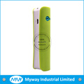 wholesale real 2600mah lipstick multicolor cheap battery charger portable power bank