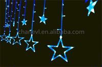 Latest special design led curtain lights christmas with different size
