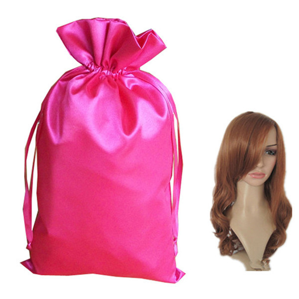Luxuty custom wig bags with satin