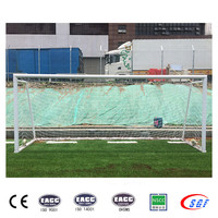 2016 Indoor arena 5x2m portable soccer goals with wheels