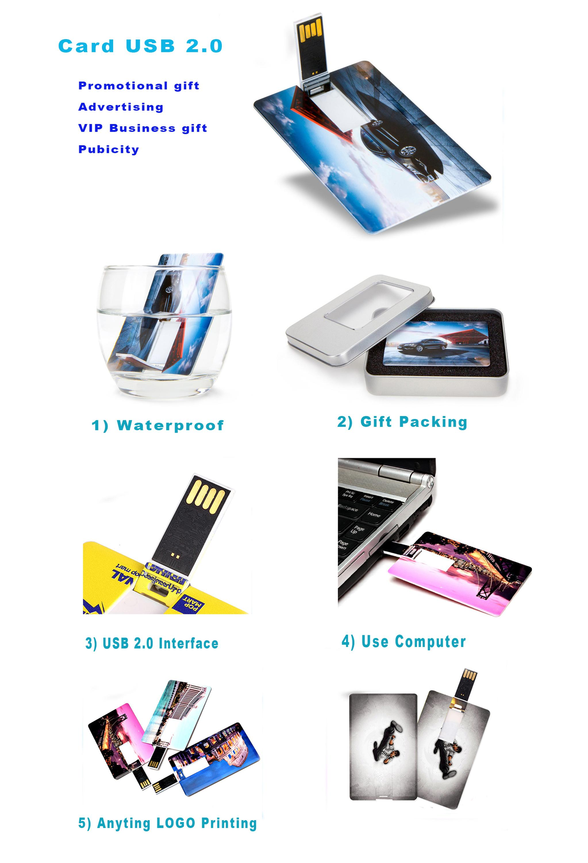 Factory Provide name card usb drive credit card usb business card usb Model JEC-032
