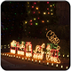 Christmas decoration outdoor 110V led rope light train