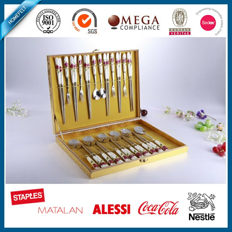 wedding cutlery gold stainless steel cutlery flatware sets chinese cutlery