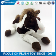 2017 custom stuffed sitting plush horse toy