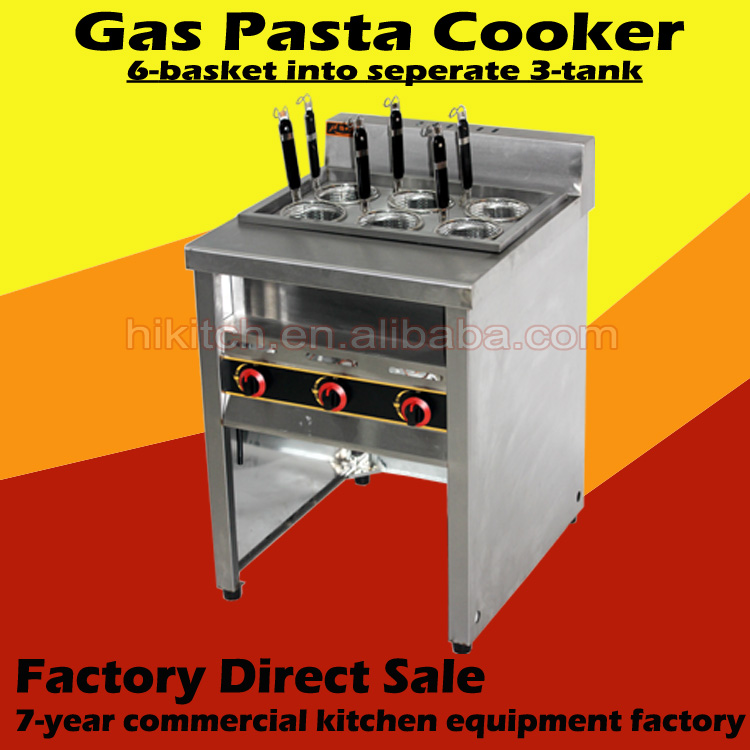 Free standing 6 basket italy pasta cookers with auto water in & out facility