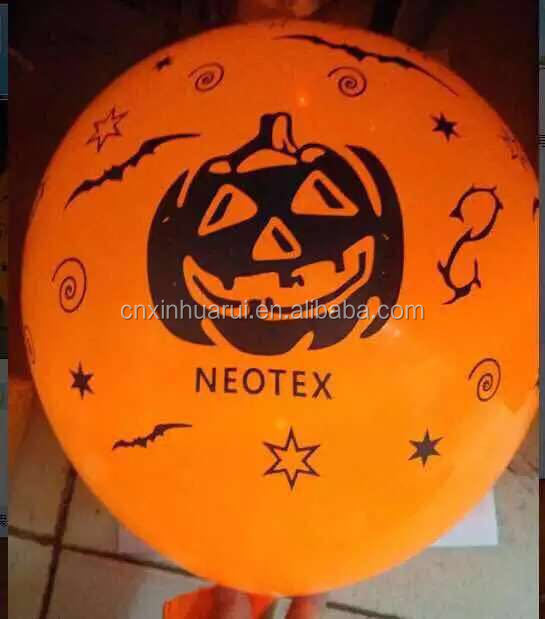 wholesale price different shaped printed balloons for Hallowmas