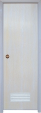 WK-P002 White Plain PVC door for interior prices Plastic toilet bathroom door cheap price
