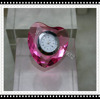 Factory directly sale hot seller 5pcs/lot high quality 50mm pink color heart shape crystal clock for hot selling
