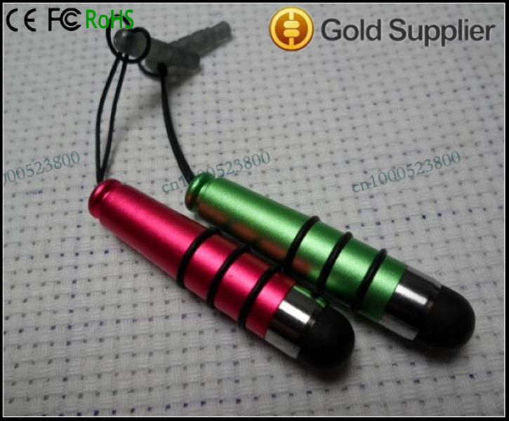 Small Stylus Touch Screen Pen <strong>w</strong>/ Headphone Jack for iPhone iPod Android LG