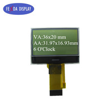 custom FSTN lcd screen 128x64 cog graphic positive transflective module with backlight