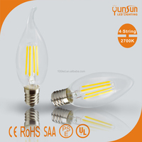 Hot e14 led light bulb led light e14 e27/e14 3w led bulb light 2 year warranty