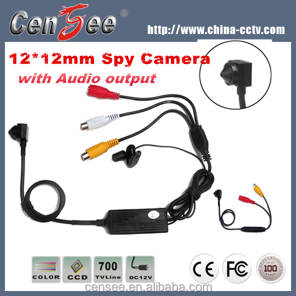 Super Mini 12*12mm 700tvl Clips HD Broadcast Camera with Audio