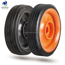4 inch small solid rubber wheel for luggage trolley, shopping cart