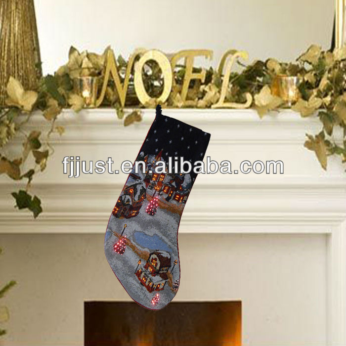 christmas stocking holders with led light for party holiday