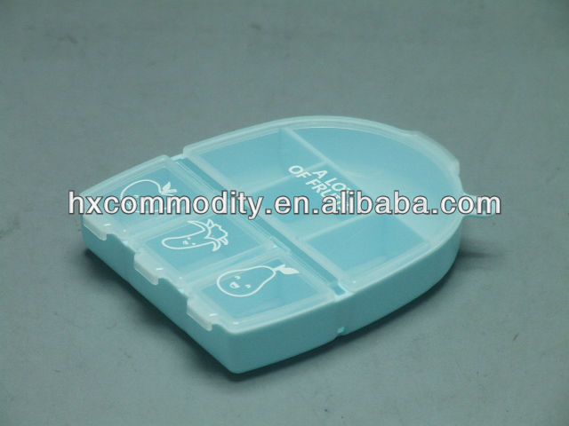 very small plastic boxes with compartments
