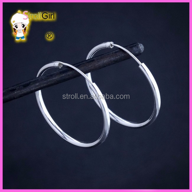 size 15mm 20mm 25mm 30mm gold plated jewelry 925 big hoop <strong>earrings</strong>