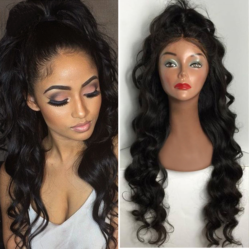 8A Grade High Quality Wholesale Human Hair Loose Wave Lace Front Wigs