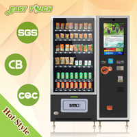 Attractive 23.6 inch touch screen snack and beverage/drink combo automatic vending machine