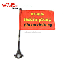 Custom Logo Printed Advertising 14x21cm Bicycle Safety Flag Bike Flying Flags