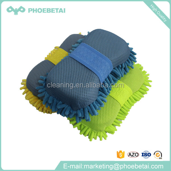 Super absorbent sponge microfiber chenille washing car sponge