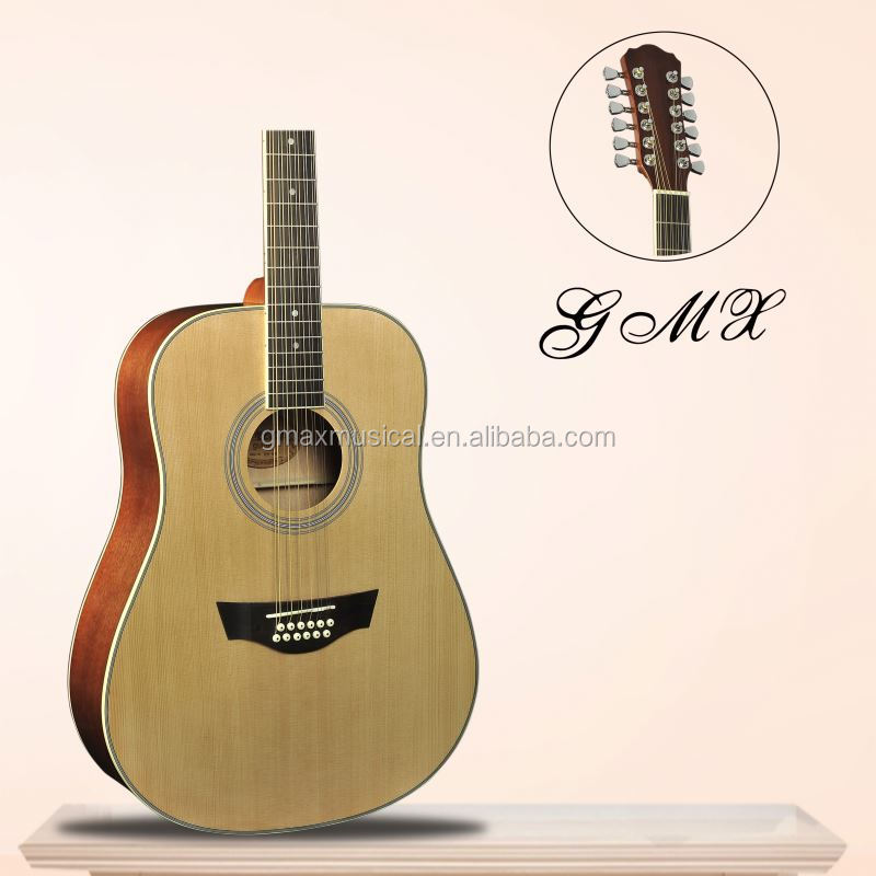 Spruce top custom new coming high grade 12 acoustic left hand guitar