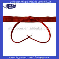 customized red elastic drawstring cord