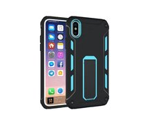 Shockproof armor PC+TPU protective back case with stand for Iphone X