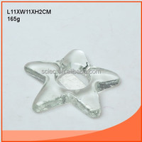 clear star fish shaped glass candle holder
