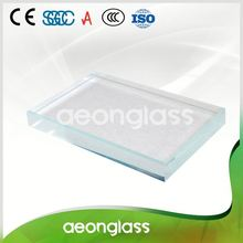 Customized size solar panel 6mm thick clear float low-iron glass price