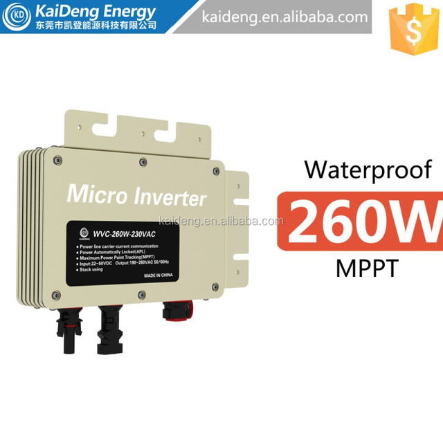easily install ip67 mppt pv solar micro inverter 300w
