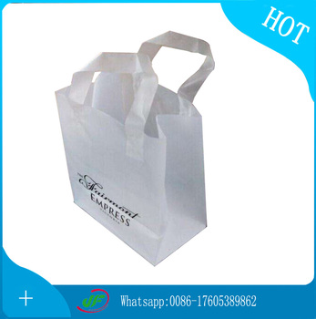 Hand Reinforced Plastic pillow Bag With Printing Logo