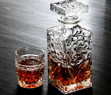 Handmade unique design clear crystal wine bottle decanter with stopper