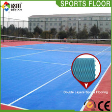 CE Standard pp interlocking synthetic portable tennis court sports flooring,removable tennis court flooring material