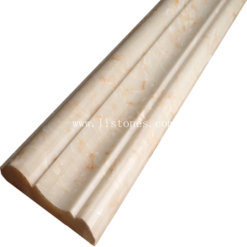 "artificial stone skirting board and base board molding 5""x12"" customized molding"