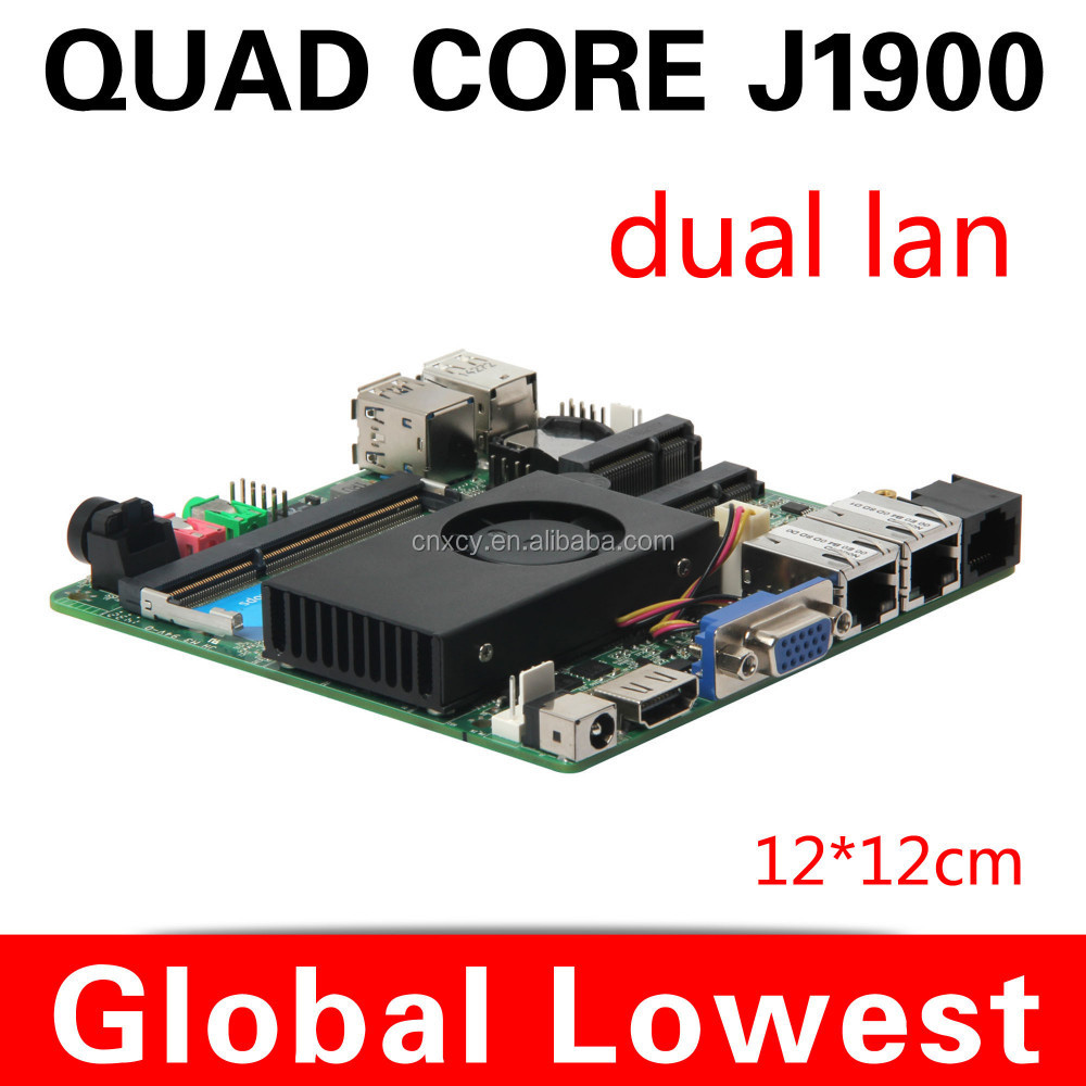 J1900 POS mainboard mini itx motherboard mother board Dual lan motherboard 2.0GHZ Support desktop computer