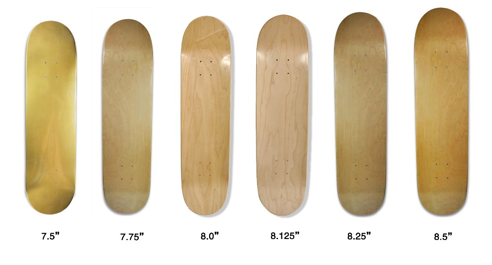 Pro Quality 100% Canadian Maple & Bamboo Material Blank Skateboard Decks In Various Size And Concave