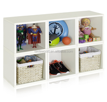 Eco Stackable wood Storage Cube and Cubby Organizer