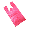 Factory wholesale red cheap price shopping trendy plastic bag for sale