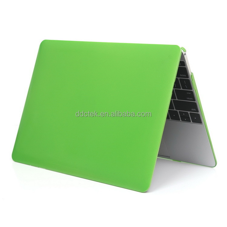 "Ultra slim light weight metal color plastic hard case cover for apple Macbook air 13-inch for Mac 12"" shell- green"