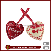 China manufacturer heart shaped wholesale cheap native christmas decoration