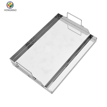 Stainless Steel Griddle pan for BBQ Grills with Removable Handles