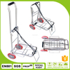Aluminum folding trolley travel luggage cart hand dolly trolley with wheels